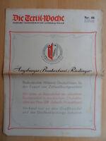 DIE TEXTIL-WOCHE 16 - 18. April 1942 Mode Werbung Augbsurg Buntweberei Riedinger