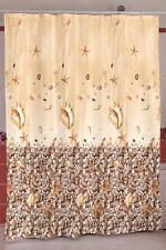 Textil Duschvorhang Muschel Seestern 180x200 cm Raumteiler Badevorhang