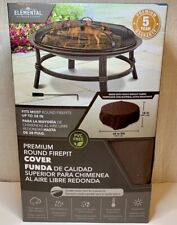 38-in Brown Round Firepit Cover heavy-weight fabric Water-resistant Uv protected