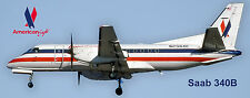American Ealge Airlines Saab 340B Photo Magnet (PMT1574)