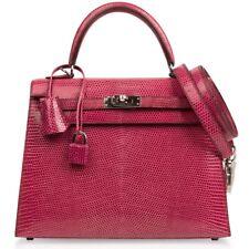 df9c5d062fa4 Hermes Kelly 25 Bag Sellier Fuchsia Pink Lizard Palladium