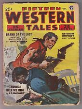 Fifteen Western Tales Oct 1948 Pulp Talmage Powell Joe Archibald Robert Turner