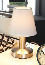 Nachttischlampe Tischleuchte Nachttischleuchte Touch Silberfarben Weiß E 14 MATS