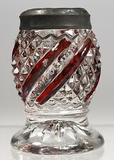 U.S. Glass Co. - No. 15042 Diamond Swirl - Ruby Stained Shaker