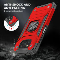 For Xiaomi POCO X3 NFC Shockproof Hybrid Armor Ring Holder Stand Back Case Cover