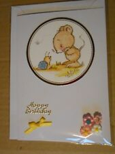 Mouse & Snail Handmade Birthday Card