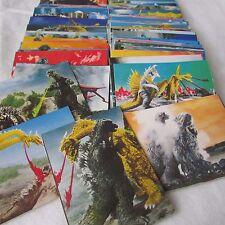 Godzilla Cards  Lot of 64 + Godzilla vs mothra Lot of 16  Yamakatsu Japan 70s