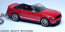 KEY CHAIN RED BLACK FORD MUSTANG GT 500 SHELBY CONVERTIBLE NEW LIMITED EDITION