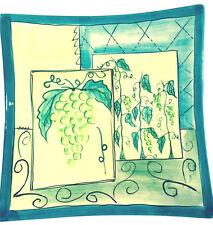 "Grape Vines Decorative Plate Elizabeth Munro For Montage Ceramic Art  8""x 8"" EUC"