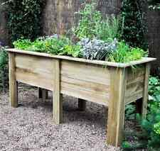 Raised Bed Planter Wooden Flower Box Deep Root Vegetable Patio Herb Stand 1.8m