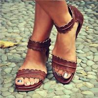 Women Gladiator Casual Sandals Flat Peep Toe Beach Shoes Rome Style Back Zip