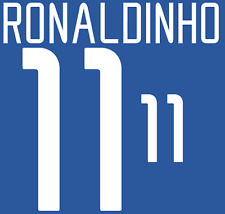 Brazil Ronaldinho Nameset 2002 Shirt Soccer Number Letter Heat Print Football A