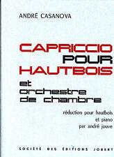 André Casanova CAPRICIO POUR HAUTBOIS et orchestre de Chambre 1964
