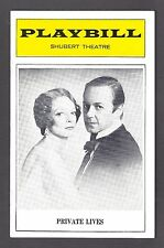 """Maggie Smith """"PRIVATE LIVES"""" John Standing / Noel Coward 1974 Tryout Playbill"""