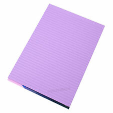 3 x Memory Aid A4 Lilac 100 Page Paper Notepad Refill Memo Lined Writing Pads