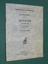 "Partition Violon acc. piano ""Sonates"" 1er volume (n° 1-2-3)  G. F. HAENDEL"