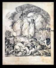 ELEVATION OF THE BRAZEN SERPENT IN THE WILDERNESS 1783 Robert Blyth ETCHING