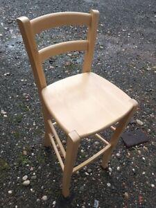 Beech bar stool wooden slat back heavy duty beech bar chair