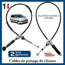 Jeu de cable de commande selection de boite à vitesse pour Renault Espace 3
