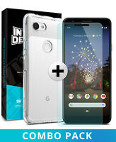 For Google Pixel 3a | Ringke® [FUSION] Clear PC Shockproof TPU Bumper Cover Case
