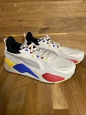 Men's PUMA RS-X  Color Theory 370920 01 Whisper White/black/blue/yellow/red