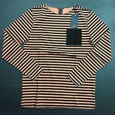New Season Scotch & Soda Striped T-shirt leather chestpocket Sale Sample Size L
