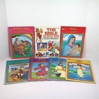 Vintage 90s Bible Coloring Books Lot of 7 Creative Child Press Merrigold Press
