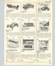 1963 PAPER AD Revell Scale Model PT 109 JFK John Kennedy Action Figure Willys
