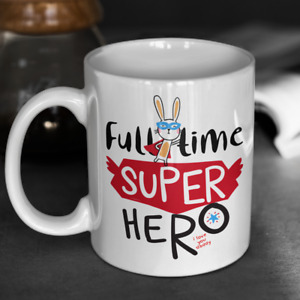 Gift For Dad Full Time Superhero Colourful Love You Daddy Mug Gift