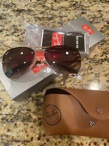 Ray Ban Aviator Sunglasses Rimless Gold