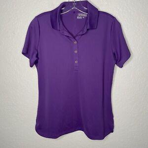 Nike Golf Tour Performance Dri-Fit Women's Polo Purple Medium Athletic Light EUC