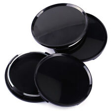 4x Universal 63mm Car Wheel Center Hubs Caps Covers NO Badge Emblem Black