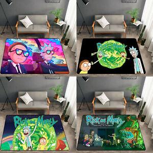 Rick and Morty Rug Anti-Slip Large Rug Floor Mat Living Room Bedroom Soft Carpet