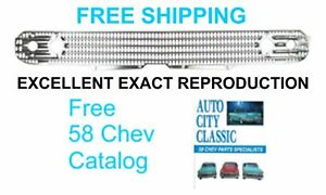 1958 Grille Chevrolet Chevy Impala BelAir Biscayne DelRay New Exact Reproduction