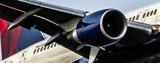 Delta Air Lines Boeing 757 Close Up Handmade Photo Magnet (PMT1528c)