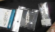 "Lot of 3 NEW Crystal Rhinestone Pins 2 1/4"" pretty dance accessory silver brooch"
