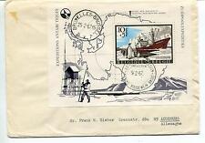 1967 Koning Boudewijn Basis Expedition Bruxelles Polar Antarctic Cover
