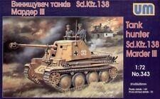 Unimodel 1/72 Sd. KFZ. 138 Marder III Tanque Hunter # 343