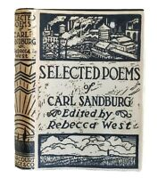 Selected Poems Of Carl Sandburg with Rebecca West as Editor Vintage HCDJ