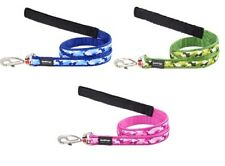 Red Dingo Camo Patterned Lead for Dog   PINK BLUE or GREEN   FREE P&P