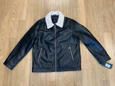 NEW-MENS TOMMY HILFIGER CLASSIC LEATHER JACKET,159AU875,...