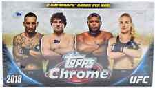 2019 TOPPS CHROME UFC HOBBY SEALED BOX!