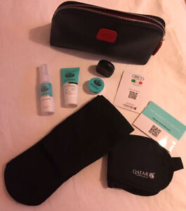 Bric's Amenity Kit-Toiletry Bag- Black Colour Vibiano Products- Qatar Airways