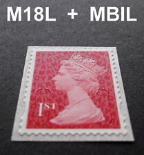 NEW JUNE 2018 1st Class M18L + MBIL MACHIN SINGLE STAMP from Business Sheets