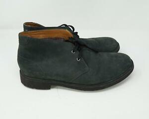 Clarks Men's Suede Hi Top Dress Shoes Green Size 10