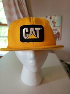 Vintage Tonkin Yellow Mesh CAT DIESEL POWER Trucker Style Hat patch cap