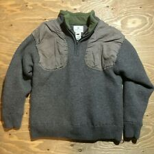 Beretta 100% Wool Knit 1/4 Zip Shooting Hunting Pullover Jacket Youth Large
