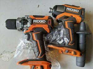 Ridgid R86116 Hammer Drill + R86037 Impact 18-Volt Cordless Brushless Tool Only
