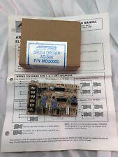 Aritech Model AD-500 Electronic Siren Driver Part # 63210055 P/N IAD50000