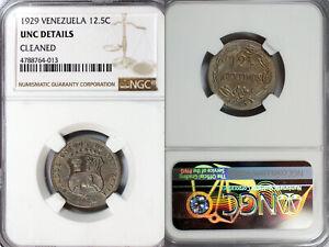 1929 Venezuela 12.5 Centimos NGC UNC
